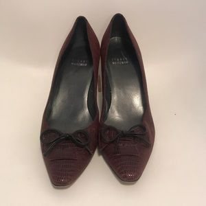 Stuart weitzman size 8/8.5 heels with bow